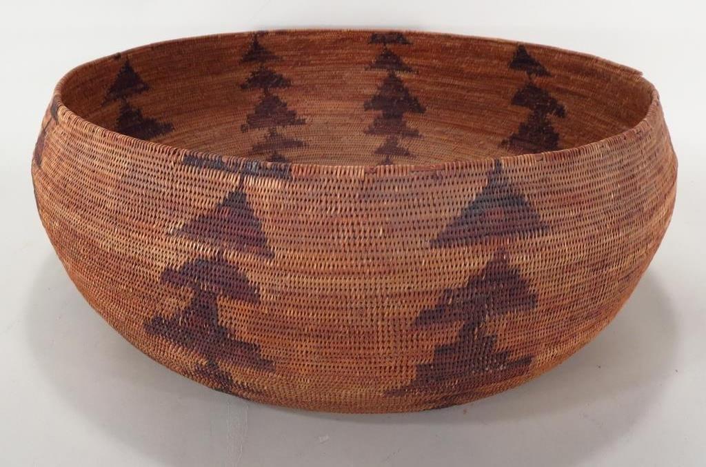 Native American woven basket, Pome Tribe, CA