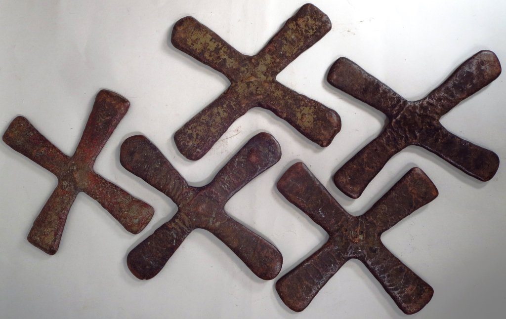 5 Copper Katanga Cross Money