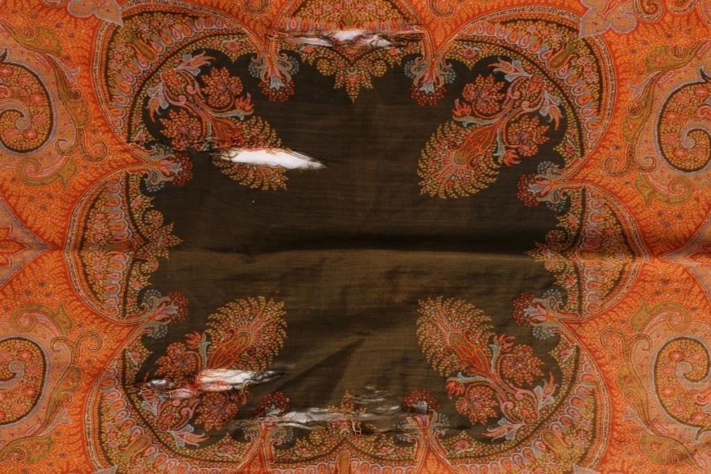 19th C. Kashmir Paisley Wool Shawl