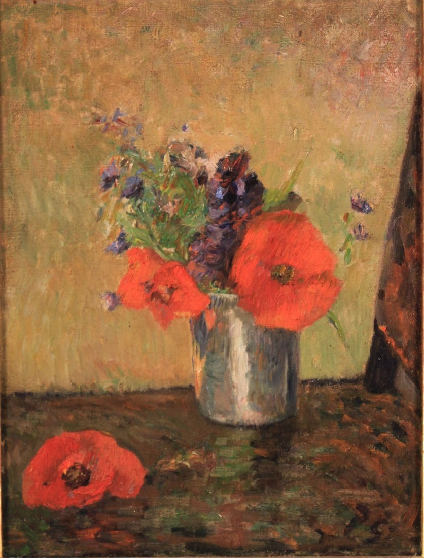 """Paul Gauguin, Fr., """"FLEURS D'ETE DANS....O/C, - 2"""