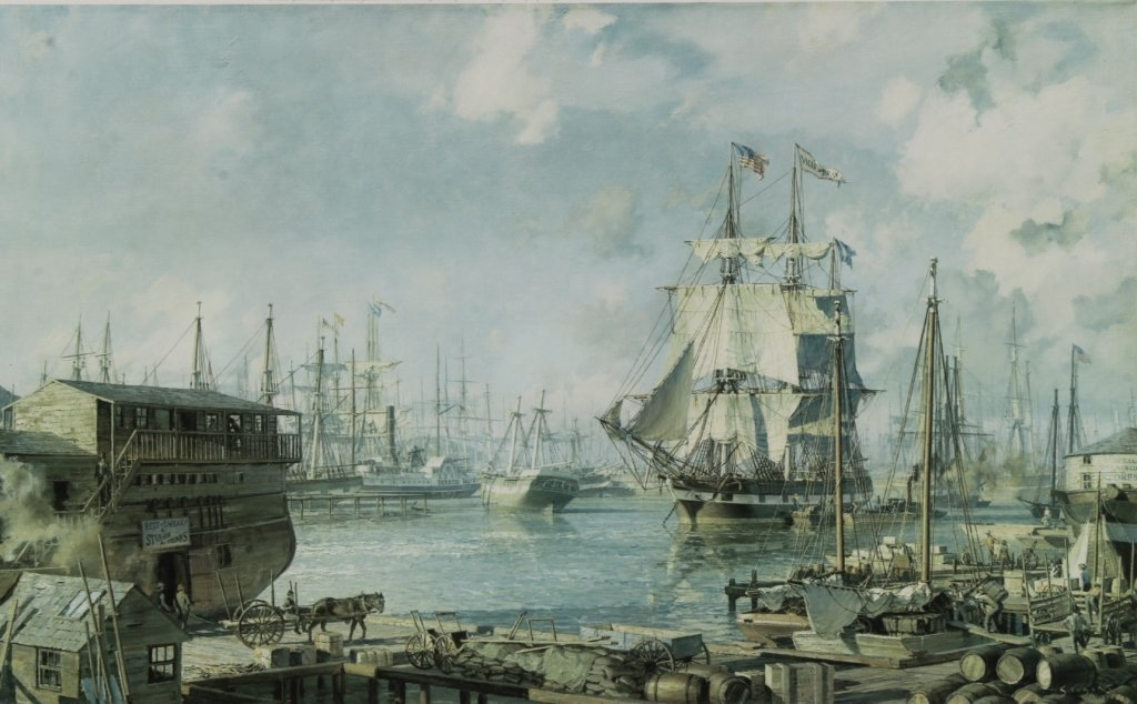 John Stobart Print, San Francisco, 1849, sgd.