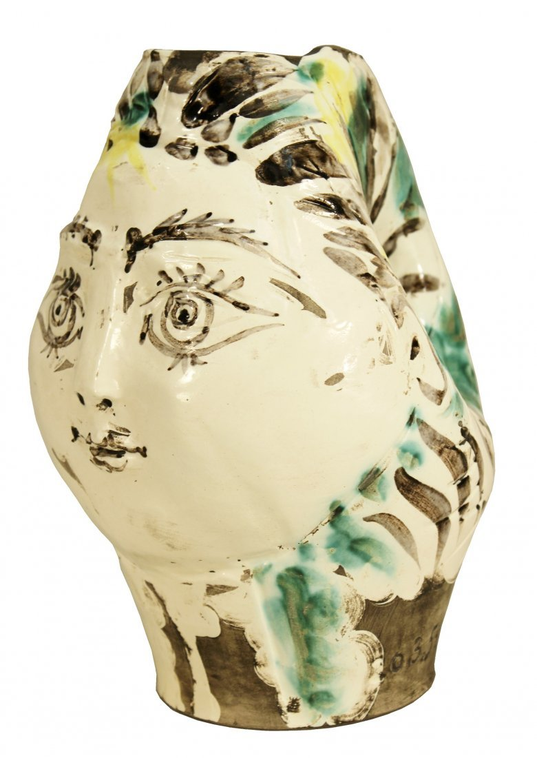Picasso's  Woman's Head Pitcher, 1954