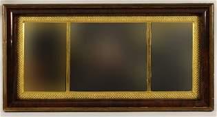 Federal Mahogany Gilt Wood Ogee Mirror