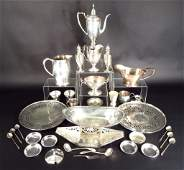 Sterling Silver Tea Set and Other Sterling Items