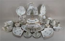 Lg. Lot of European Sprig Patterned Porcelain