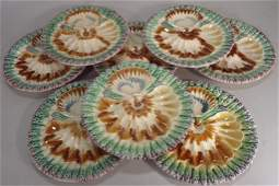 Set of 8 Majolica Plates Continental 19th C