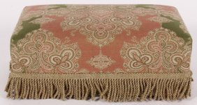 A Paisley Upholstered Low Footstool
