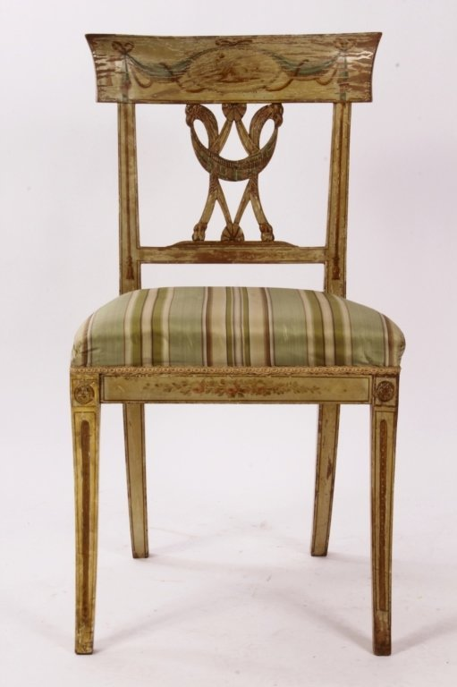 Directoire Paint Decorated Chair