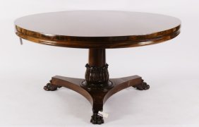 Regency Rosewood Breakfront Table