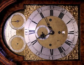 A GEORGE II MUSICAL LONG CASE CLOCK