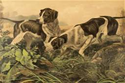 """Currier & Ives, """"American Field Sports"""", litho"""