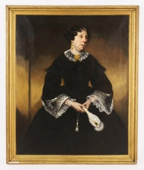 Attr. Hugh Collins, Scots,Portrait of Dowager, O/C
