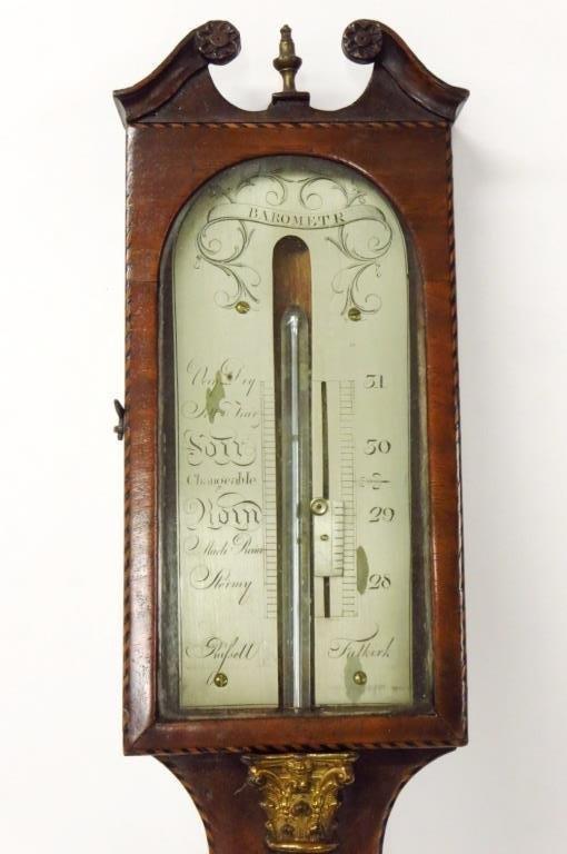 George III Stick Barometer, John Russell, Falkirk