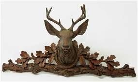 Faux Stag Head on Mount Cast Resin