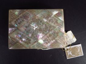 Antique Victorian Mother-of-Pearl Card Case