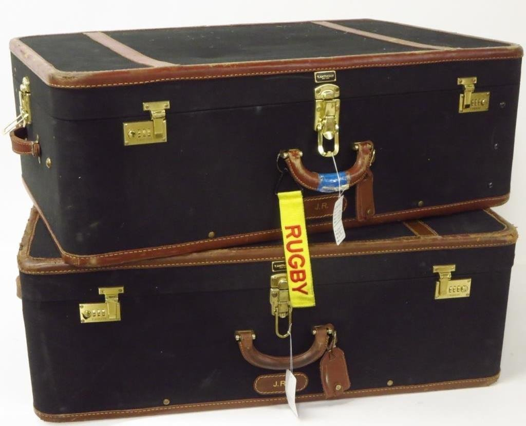 2 Vintage Suitcases by T. Anthony