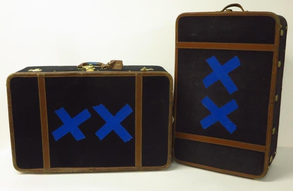 Leather & Canvas Vintage T. Anthony Suitcases