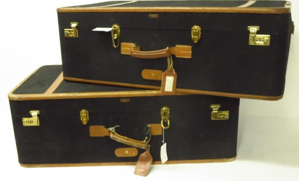 Vintage T. Anthony Suitcases: Leather & Canvas