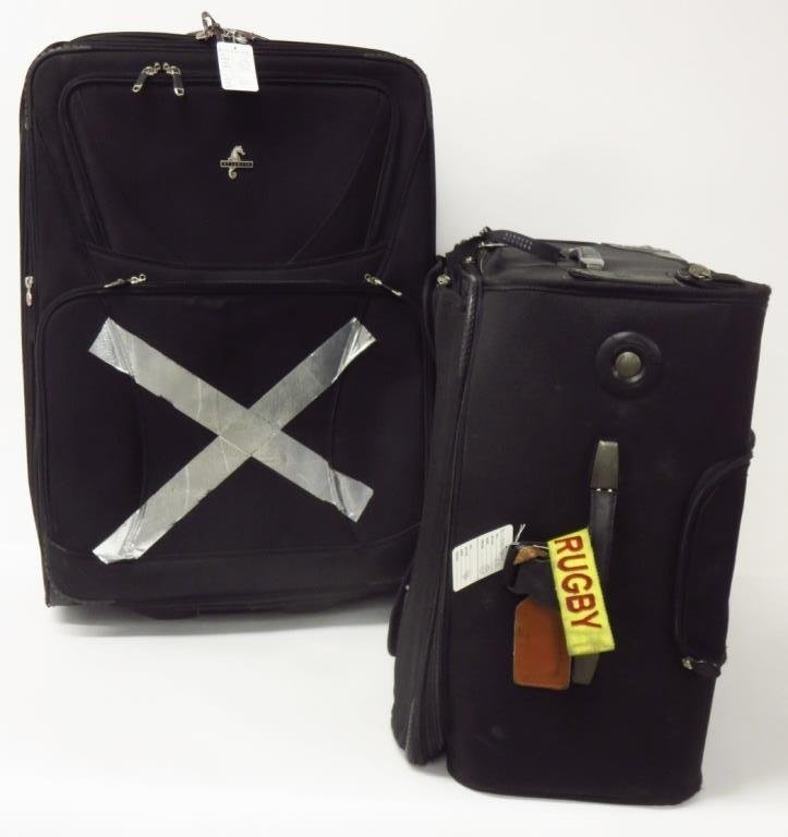 Atlantic; Two Vintage Suitcases