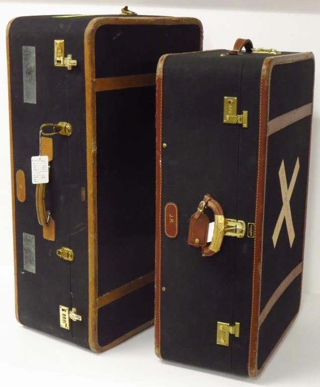 Two Vintage T. Anthony Suitcases