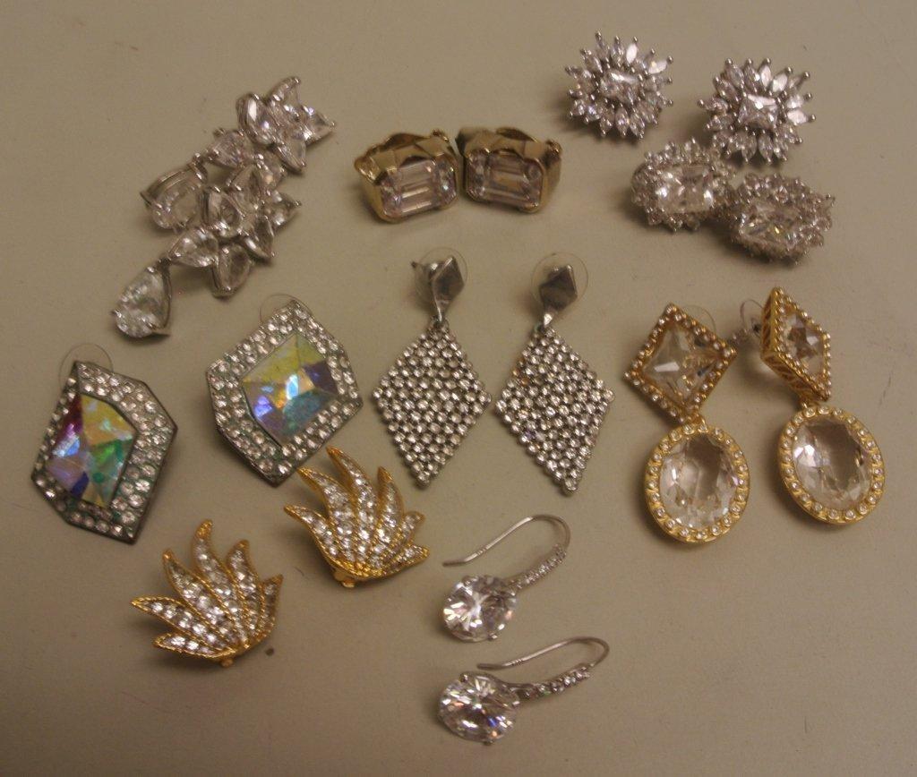 Costume Earrings, 9 pairs