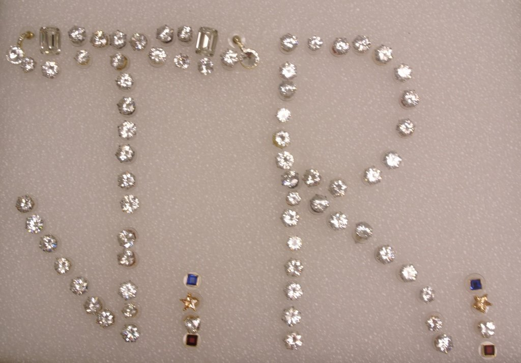 Large Lot of Costume Jewelry Studs