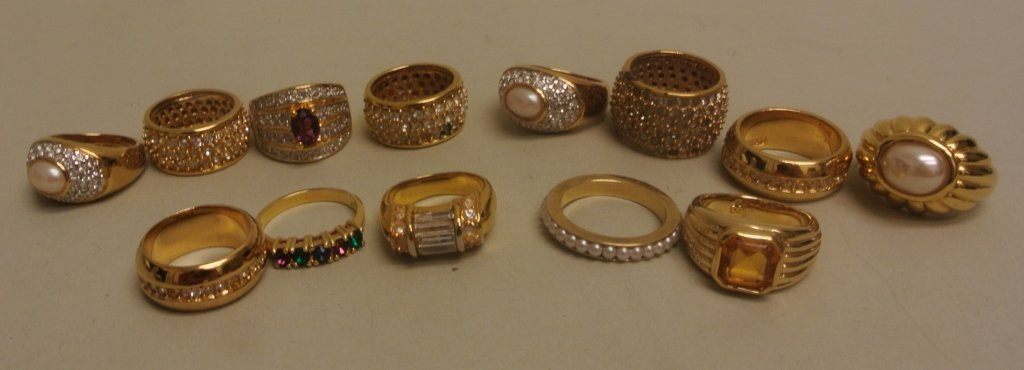 Lot of Costume Rings by Joan Rivers