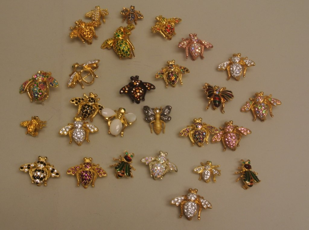 Large Lot of Bee Pins by Joan Rivers
