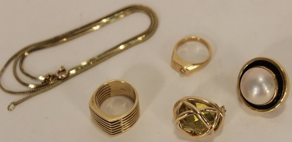 Lot of 14k Gold Jewelry