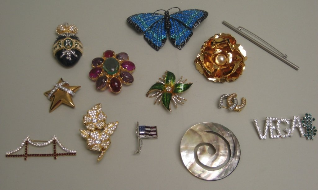 Costume Imperial Egg Pin & Others