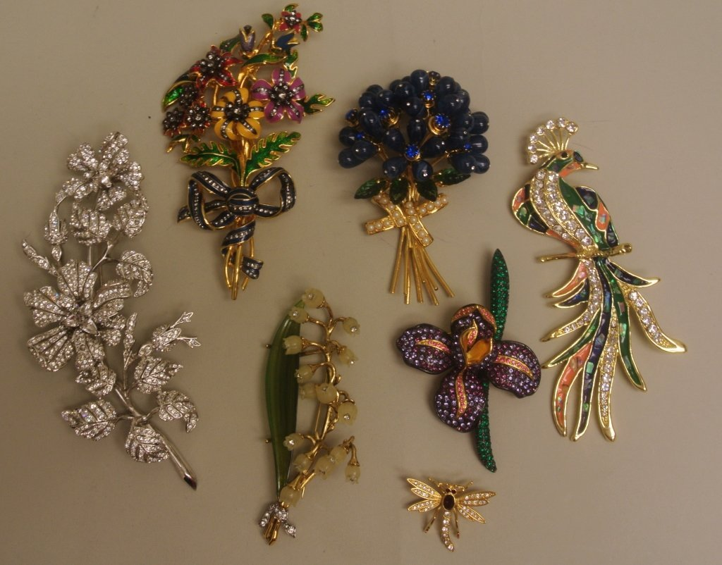 Seven Designer Costume Pins