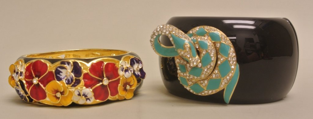 Enamel Pansy Bangle & Others