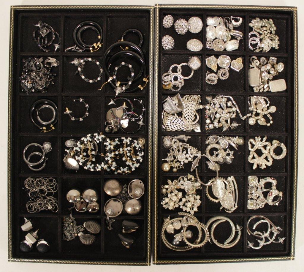 Rhinestone Clip & Pierced Earrings + Others