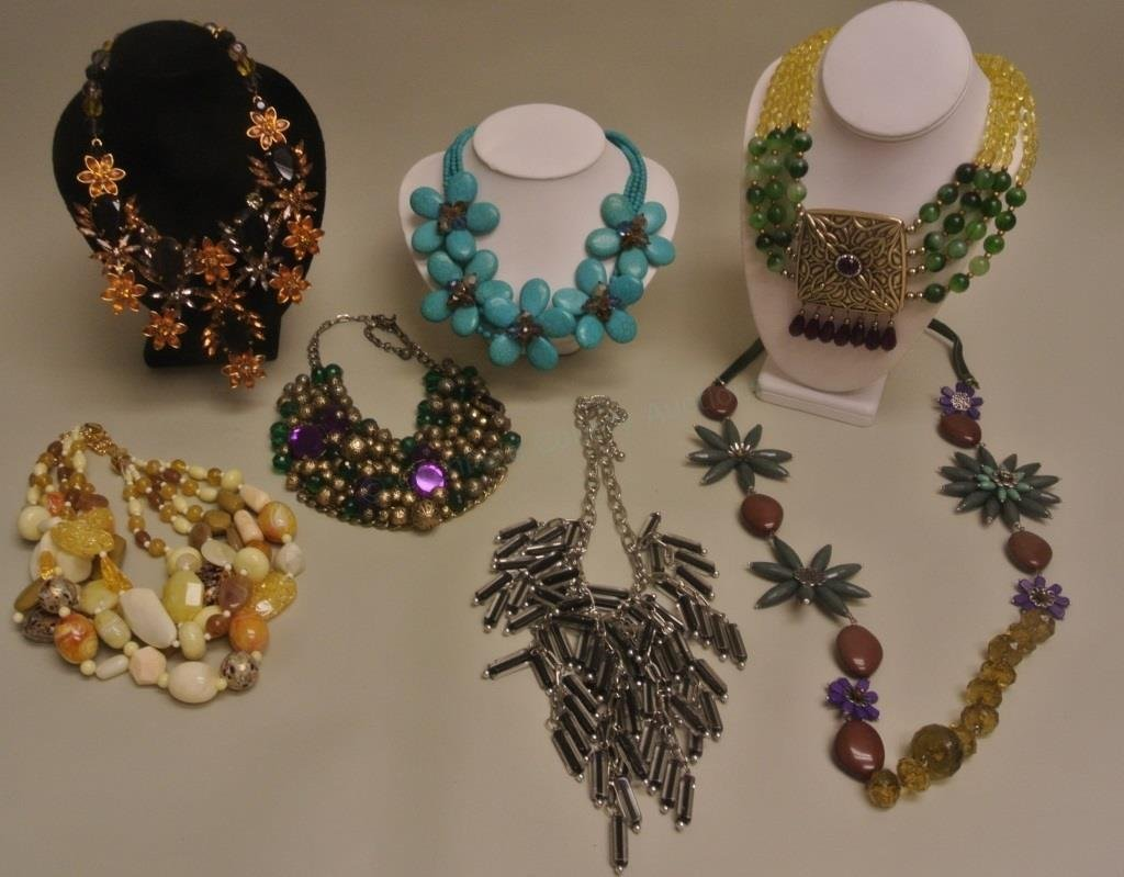 Turquoise Floral Necklace & Others