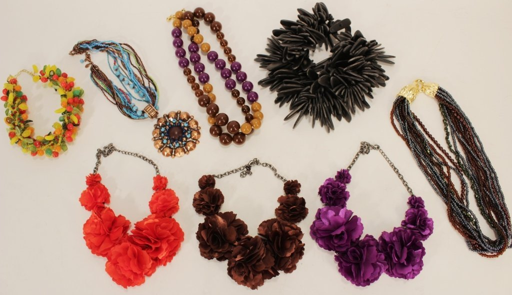 Eight Costume Jewelry Necklaces
