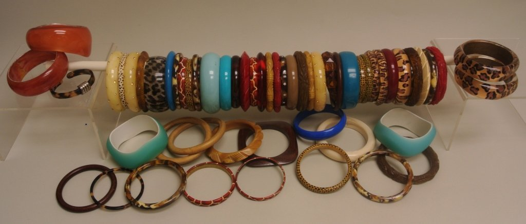 Large Lot of Colored Bangles