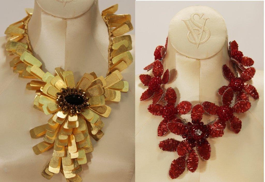 Two Vilaiwan Floral Necklaces