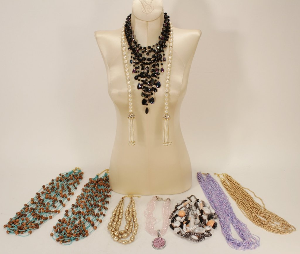 Lot of 9 Joan Rivers Necklaces