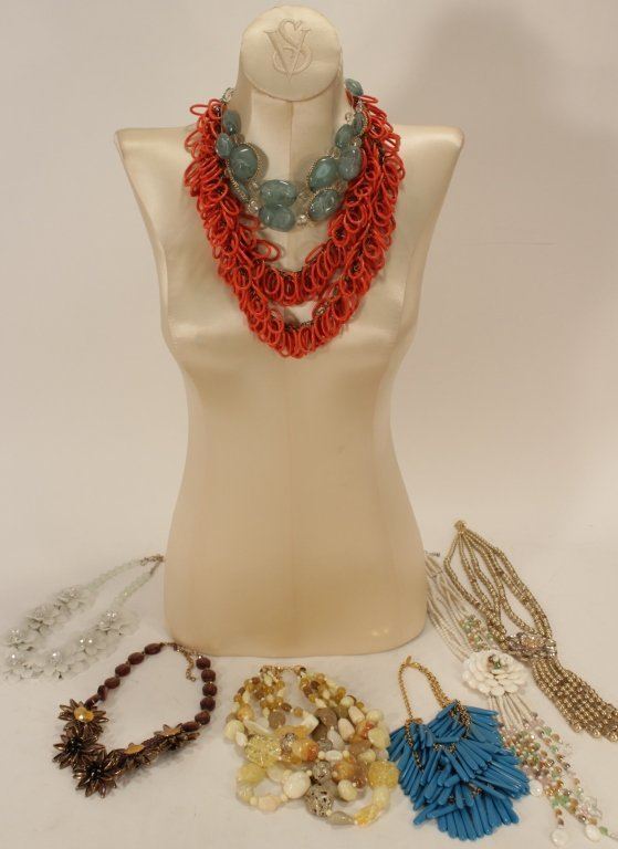 Pearl and Crystal Beaded Necklaces & Others