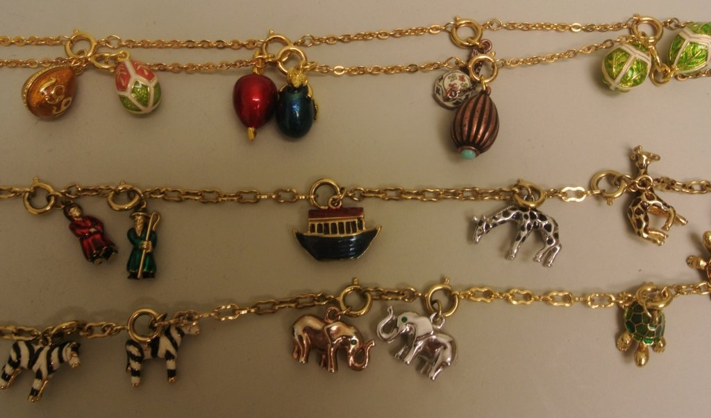 Noah's Ark and Egg Charm Necklaces