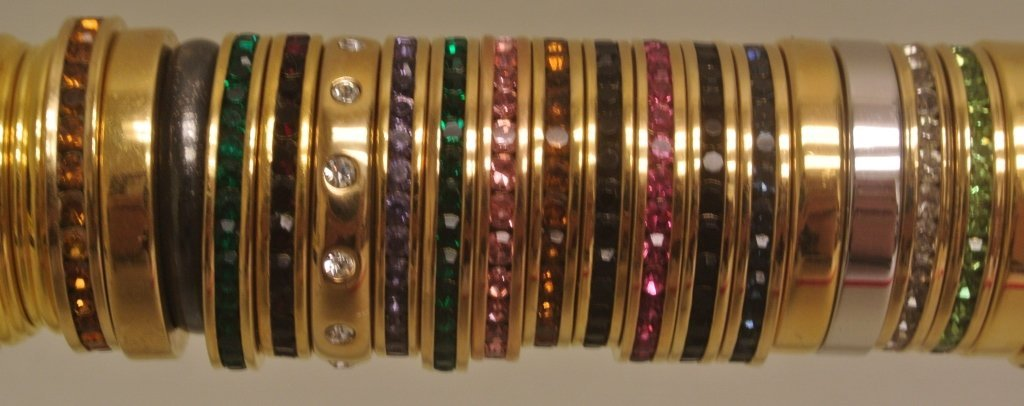 Gold Tone and Enamel Rings