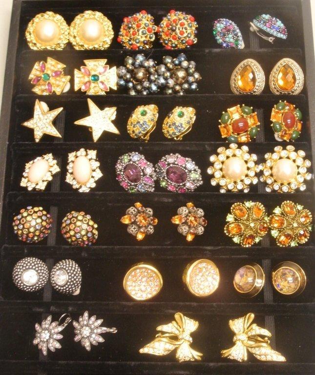 20 Pairs of Costume Earrings
