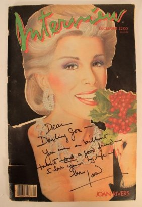 Joan Rivers Hand-Signed Warhol's INTERVIEW Dec.'84