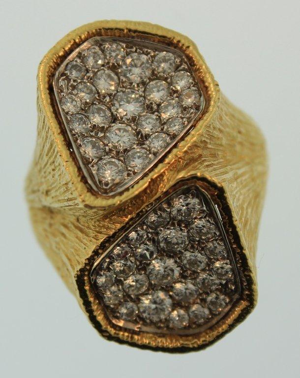 18K Yellow Gold & 2.30 ct Diamond Ring