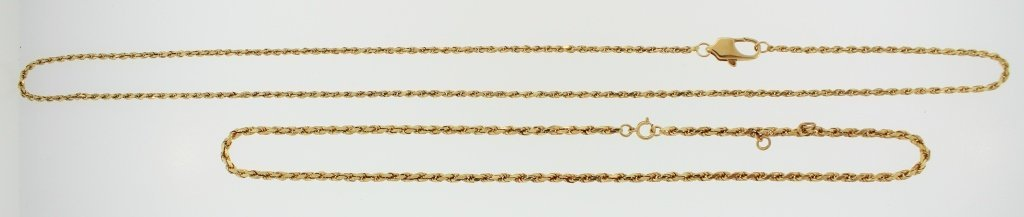 Two 14K Yellow Gold Link Necklace