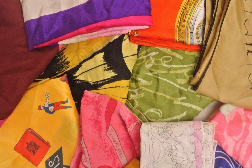 12 Vintage Designer Scarves