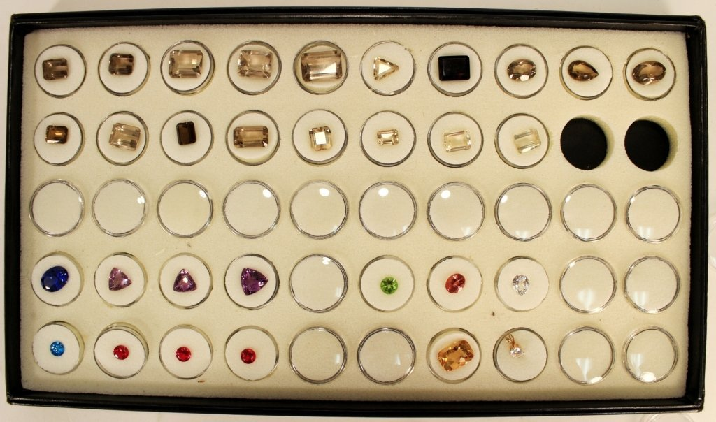 Gem Sample Set; Rubies, Tanzanite and others