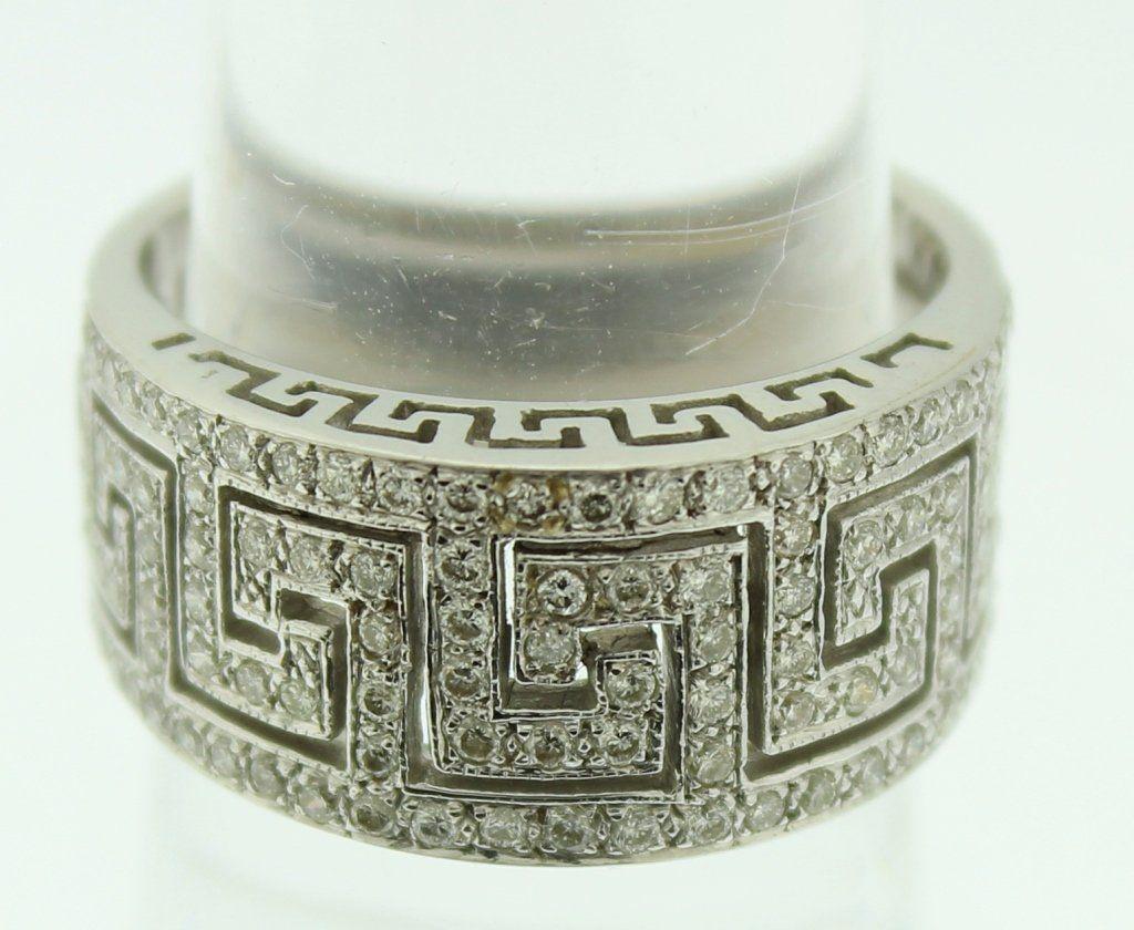 18K White Gold & Diamond Art Deco Ring