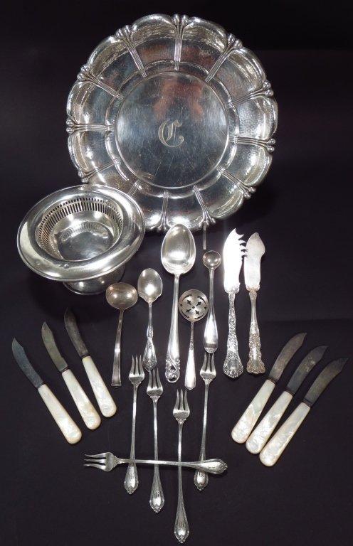 Sterling Silver Tray, Flatware, Etc.