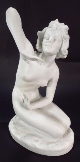 Art Deco Nude, Parianware Female Figure